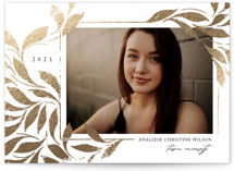 This is a white graduation announcement invitation by Erin L. Wilson called Ivy with foil-pressed printing on smooth signature in standard.