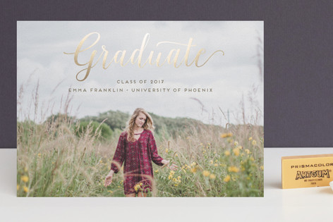 Stylish and Elegant Foil-Pressed Graduation Announcements
