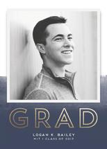 Ombre Grad Foil-Pressed Graduation Announcements By pandercraft