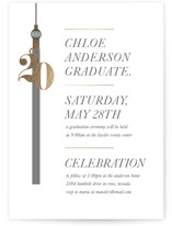 This is a black graduation announcement invitation by Dawn Jasper called tasseled celebrations with foil-pressed printing on signature in standard.