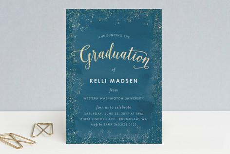 Golden Graduation Foil-Pressed Graduation Announcements