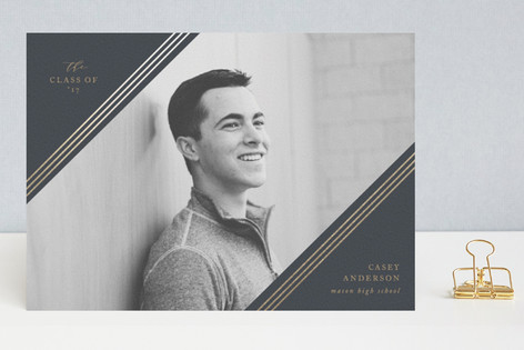 Cornerwise Foil-Pressed Graduation Announcements