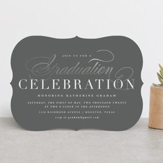 Stylish Celebration Foil-Pressed Graduation Announcements