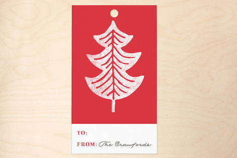 Printed Pines Gift Tags