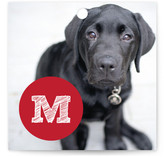 This is a red gift tag by Abby Munn called Red Paw printing on signature.