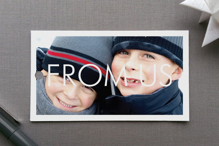 """""""Bold Gallery"""" - Simple, Modern Gift Tags in Snow by Precious Bugarin Design."""