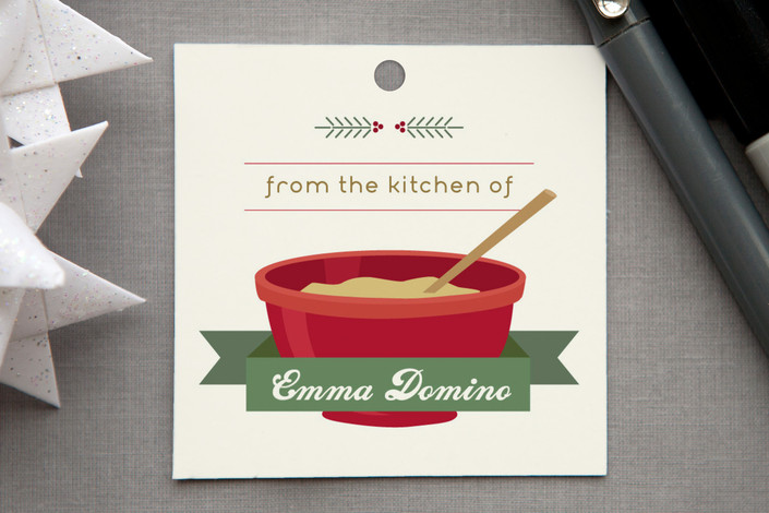 """Holiday Gifts from the Kitchen"" - Modern, Simple Gift Tags in Cranberry by sweet street gals."