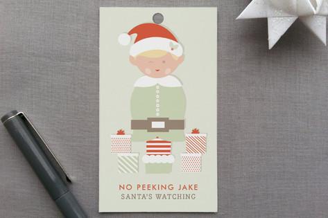 Peeking Elf Gift Tags