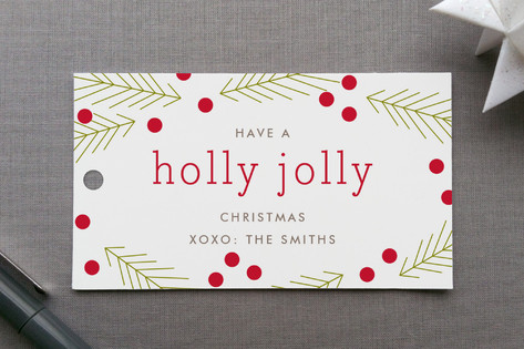Holly Jolly Gift Tags
