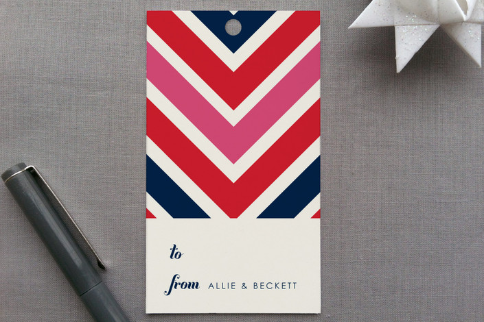 """Swiss Alps 1978"" - Modern, Modern Gift Tags in Navy by Toast & Laurel."
