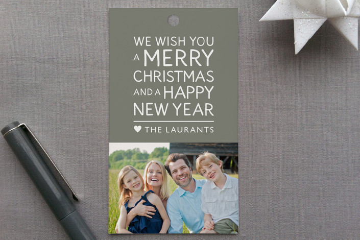 """""""Family Framed"""" - Minimalist, Simple Gift Tags in Slate by Jill Means."""