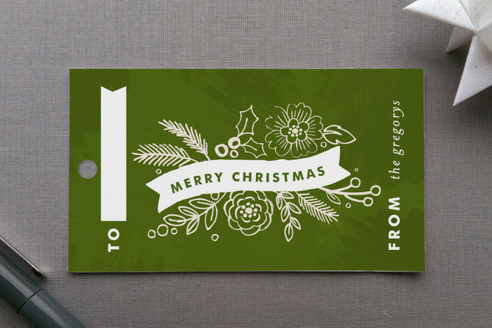 """Chalkboard Label"" - Rustic/Craft Gift Tags in Pine by Alethea and Ruth."
