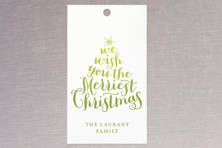"""""""Ombre"""" - Modern, Modern Gift Tags in Lemon Lime by Lauren Chism."""