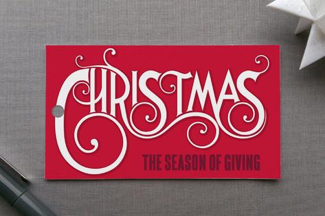 Christmas Swirl Gift Tags