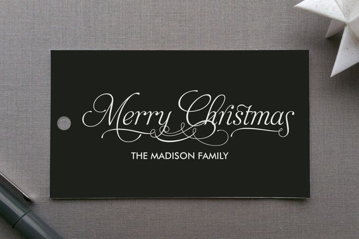 """Modern Elegance"" - Modern, Simple Gift Tags in Black by Coco and Ellie Design."