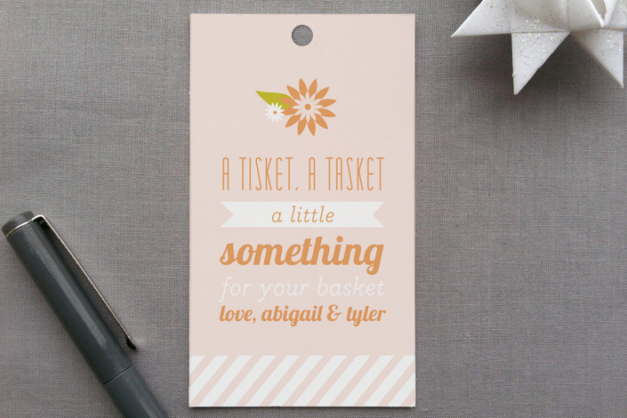 """""""Tisket a Tasket"""" - Classical Gift Tags in Sherbet by Laura Hankins."""