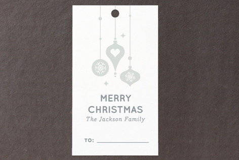 Snowy Ornaments Gift Tags