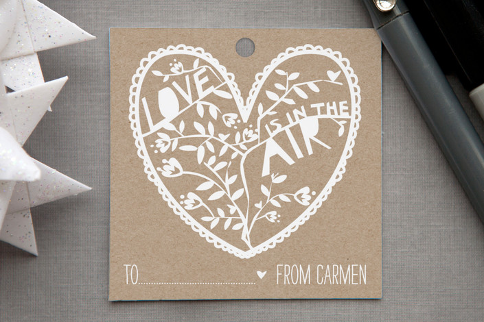 """""""Paper Cut Tag"""" - Rustic, Whimsical & Funny Gift Tags in Kraft by Jen."""