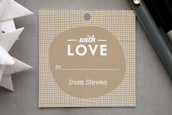 """""""Meshed with Love"""" - Hand Drawn Gift Tags in Red Rose by Monica Tuazon."""
