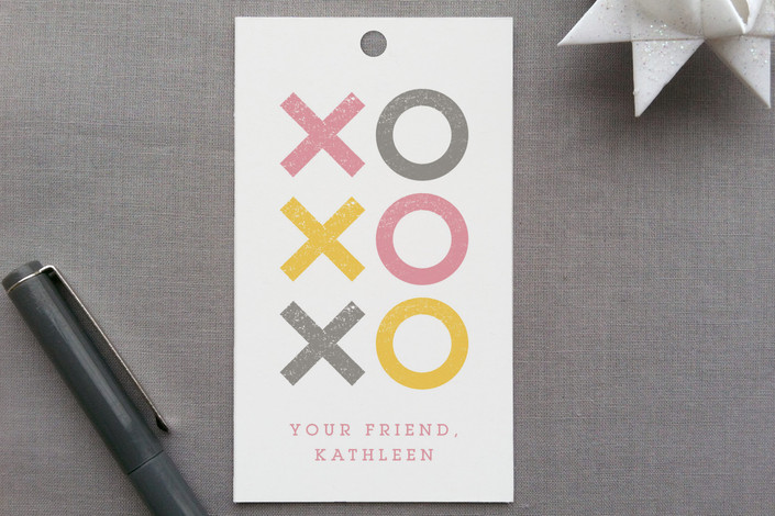 """""""Pastel Kissed and Magic Hugs"""" - Whimsical & Funny, Modern Gift Tags in Cotton Candy by Shari Margolin."""
