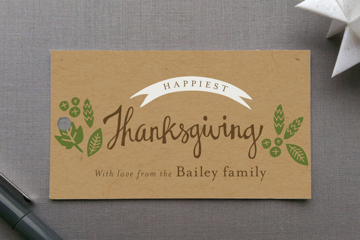 """""""Rustic Harvest"""" - Rustic Gift Tags in Kraft by Griffinbell Paper Co.."""