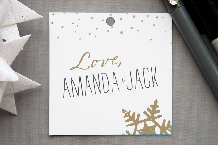 """""""Silver and Gold"""" - Modern, Rustic/Craft Gift Tags in Gold by Jody Wody."""