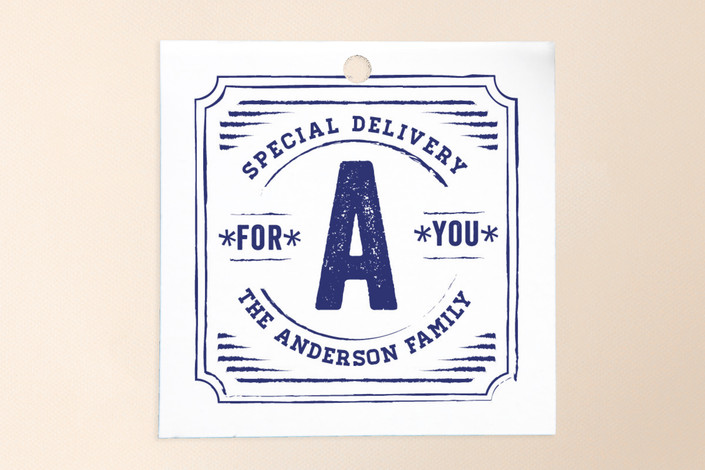 """""""Vintage Post"""" - Vintage Gift Tags in Navy by Frooted Design."""