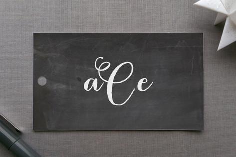 Monogram Chalkboard Gift Tags