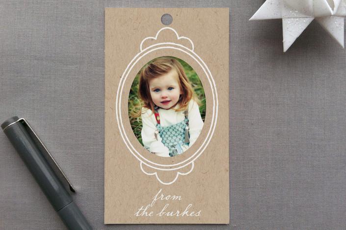 """Krafted Frames"" - Preppy Gift Tags in Kraft by leslie hamer."