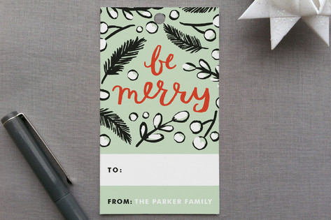 Be Merry Branches Gift Tags