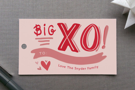Big XO Gift Tags