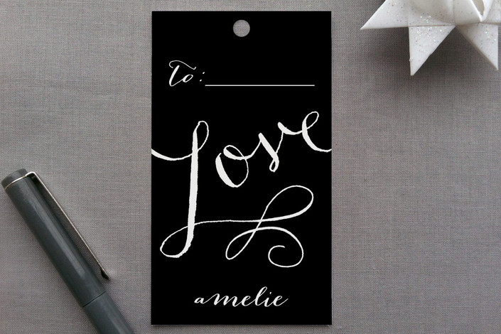 """Love Wrap"" - Classical, Whimsical & Funny Gift Tags in Ruby by Lori Wemple."
