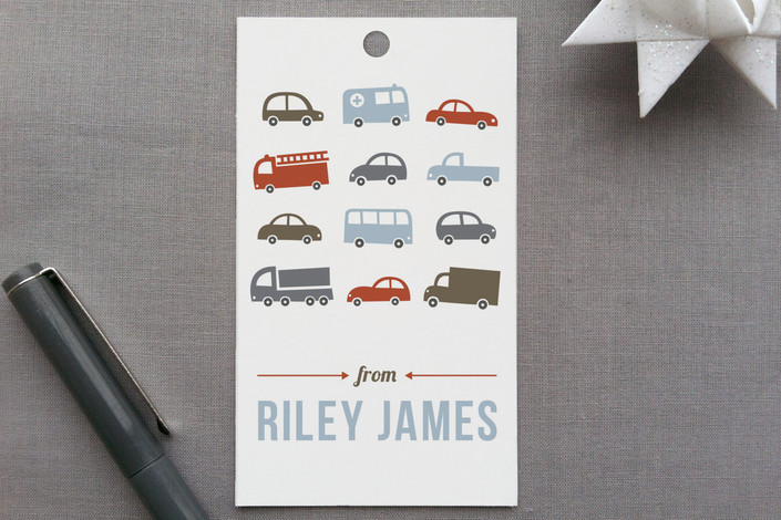 """Beep Beep"" - Whimsical & Funny Gift Tags in Pale Blue by Susan Asbill."