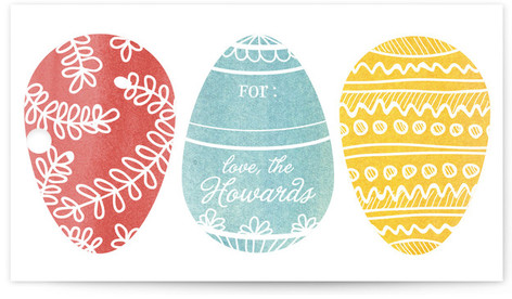 Easter gift wrap minted painted eggs gift tags by 2birdstone negle Image collections