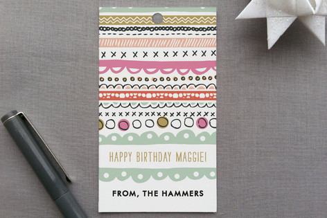 Doodle Strip Gift Tags