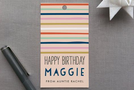 Confetti Stripes Gift Tags
