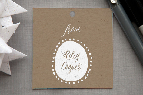 Monogram Oval Gift Tags
