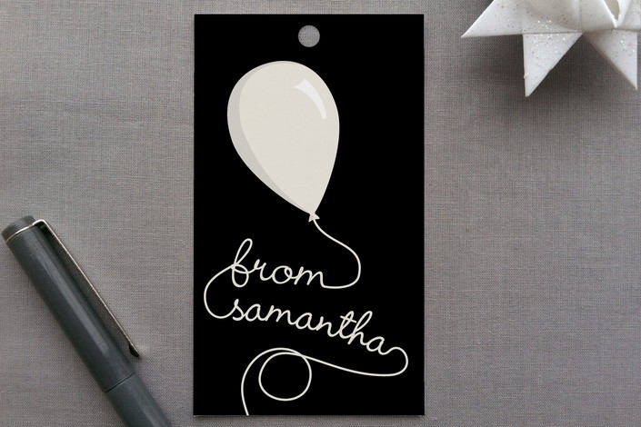 """""""Party Balloons"""" - Simple Gift Tags in Cherry by GeekInk Design."""