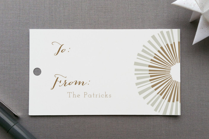 shimmer gift tags by kelly ventura minted