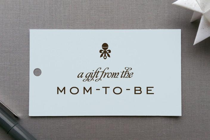 """Petite Rattle"" - Classical, Modern Gift Tags in Cornflower by Robin Ott."