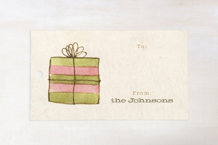 """""""Vintage Watercolor"""" - Vintage, Rustic/Craft Gift Tags in Natural by Four Wet Feet Studio."""