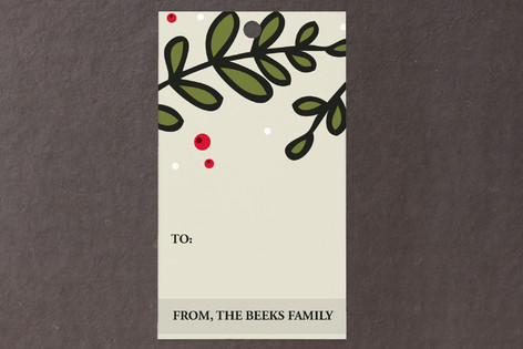 Holiday Branches Gift Tags
