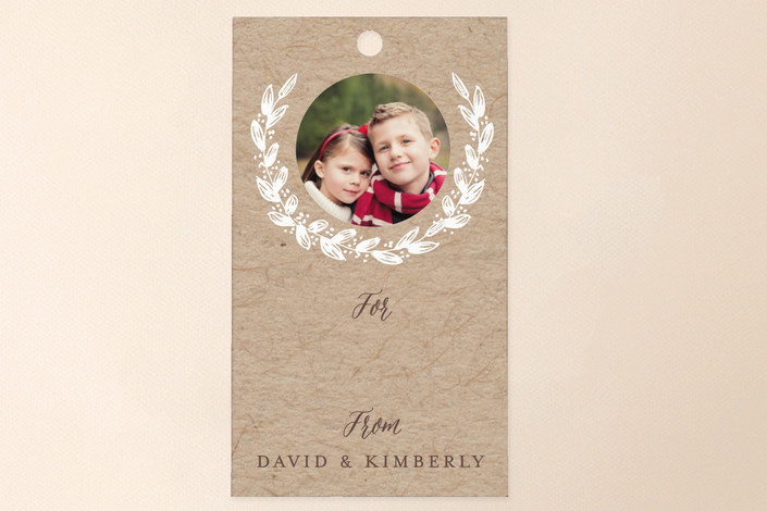 """""""Snowy Branches"""" - Classical, Simple Gift Tags in Kraft by Sarah Curry."""