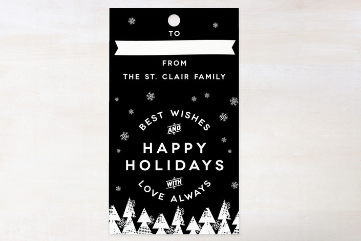 """The Gangs All Here"" - Modern, Simple Gift Tags in Onyx by Christina Novak."