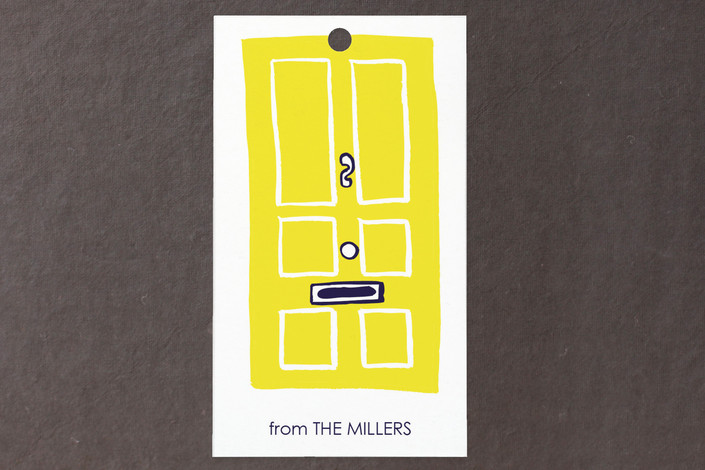 """Charleston Doors"" - Whimsical & Funny Gift Tags in School Bus by Jenny Batt."
