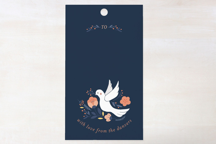 """""""Dove Botanicals"""" - Traditional Gift Tags in Midnight by curiouszhi design."""