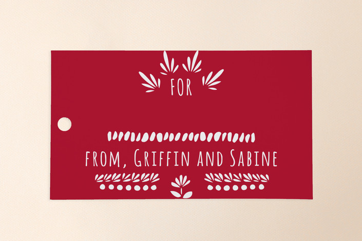 """""""Birds And Flowers"""" - Traditional Gift Tags in Cardinal by Leanne Friedberg."""