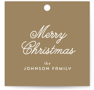 Vintage Glass Ornament Gift Tags