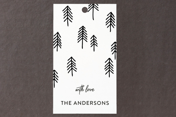 """Christmas Trees"" - Simple, Classical Gift Tags in Snowflake by My Splendid Summer."