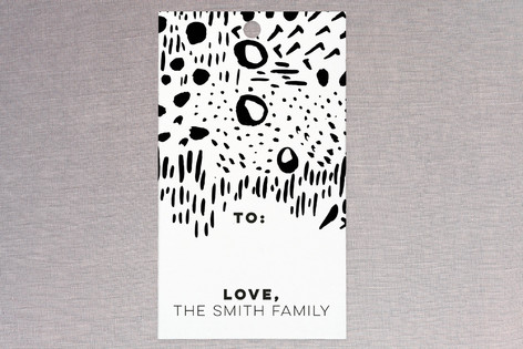 Brush Strokes BW Gift Tags
